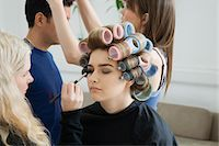 Models Being Prepared for Photo Shoot Stock Photo - Premium Royalty-Freenull, Code: 693-03313251