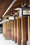 Lanterns Hanging From Eaves at Meiji Shrine Stock Photo - Premium Royalty-Free, Artist: Robert Harding Images    , Code: 693-03313491