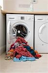 Pile of clothes in front of washing machine Stock Photo - Premium Royalty-Free, Artist: Cusp and Flirt, Code: 693-03314646