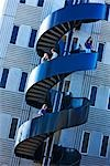 Modern staircase on university campus Stock Photo - Premium Royalty-Free, Artist: Philip Rostron, Code: 693-03317302