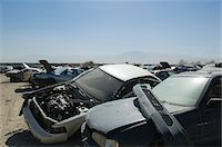 Cars in junkyard Stock Photo - Premium Royalty-Freenull, Code: 694-03328685