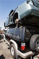 Cars in junkyard Stock Photo - Premium Royalty-Freenull, Code: 694-03328729