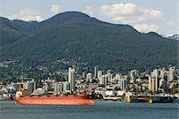 Cargo ship in Vancouver Harbour, British Columbia Stock Photo - Premium Royalty-Freenull, Code: 694-03333031
