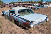 Vintage Cars in Old Junk Yard, Colorado, USA Stock Photo - Premium Rights-Managednull, Code: 700-03333228