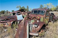 Vintage Pickup Trucks in Old Junk Yard, Colorado, USA Stock Photo - Premium Rights-Managednull, Code: 700-03333229