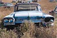 Vintage Cars in Old Junk Yard, Colorado, USA Stock Photo - Premium Rights-Managednull, Code: 700-03333231