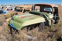 Vintage Pickup Trucks in Old Junk Yard, Colorado, USA Stock Photo - Premium Rights-Managednull, Code: 700-03333233