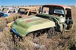 Vintage Pickup Trucks in Old Junk Yard, Colorado, USA