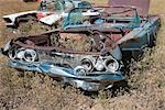 Vintage Car in Old Junk Yard, Colorado, USA