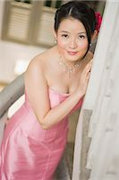 Portrait of Woman in Evening Gown Stock Photo - Premium Royalty-Freenull, Code: 600-03333302
