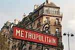 Metro Sign, Rue de Rennes, Paris, Ile-de-France, France