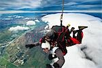 Tandem Sky Diving over The Remarkables, Queenstown, South Island, New Zealand Stock Photo - Premium Rights-Managed, Artist: R. Ian Lloyd, Code: 700-03333697