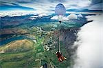 Tandem Sky Diving over The Remarkables, Queenstown, South Island, New Zealand Stock Photo - Premium Rights-Managed, Artist: R. Ian Lloyd, Code: 700-03333698