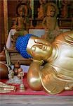 Detail of a gold reclining Buddha statue, Miyajima, Japan Stock Photo - Premium Royalty-Free, Artist: Robert Harding Images    , Code: 653-03334060