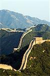 Great Wall of China at Badaling. First built during the Ming dynasty (1368-1644) and restored in the 1980s at the Unesco World Heritage Site near Beijing Stock Photo - Premium Rights-Managed, Artist: AWL Images, Code: 862-03351124