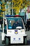 China,Beijing .A small police car patrolling the streets. Stock Photo - Premium Rights-Managed, Artist: AWL Images, Code: 862-03351373