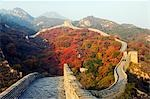China,Beijing,The Great Wall of China at Badaling near Beijing. Autumn colours cover the mountains around the Great Wall. Stock Photo - Premium Rights-Managed, Artist: AWL Images, Code: 862-03351438