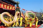 China,Beijing. Beiputuo temple and film studio. Chinese New Year Spring Festival - Dragon Dance performers. Stock Photo - Premium Rights-Managed, Artist: AWL Images, Code: 862-03351537
