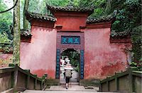 China,Sichuan Province,Qingcheng Mountain Unesco World Heritage site temple wall Stock Photo - Premium Rights-Managednull, Code: 862-03351703