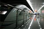 China,Shanghai. Maglev Train in Shanghai Pudong Airport Stock Photo - Premium Rights-Managed, Artist: AWL Images, Code: 862-03351913