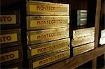 Boxes of Montecristo Cigars stacked in humidor,Havana Viejo,Old Havana World Heritage Area Stock Photo - Premium Rights-Managed, Artist: AWL Images, Code: 862-03352475