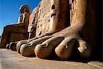 Egypt,Luxor,Massive feet on a statue in the Temple of Karnak Stock Photo - Premium Rights-Managed, Artist: AWL Images, Code: 862-03352691