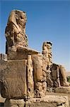 The Colossi of Memnon stand at the entrance to the ancient Theban Necropolis on the West Bank of the Nile at Luxor. Stock Photo - Premium Rights-Managed, Artist: AWL Images, Code: 862-03352772