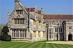 England,Dorset. Athelhampton is one of the finest examples of 15th century manor houses in England. Medieval in style predominantly and surrounded by walls,water features and secluded courts. Stock Photo - Premium Rights-Managed, Artist: AWL Images, Code: 862-03353608