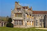 England,Dorset. Athelhampton House is one of the finest examples of 15th century domestic architecture in the country. Medieval in style predominantly and surrounded by walls,water features and secluded courts. Stock Photo - Premium Rights-Managed, Artist: AWL Images, Code: 862-03353623