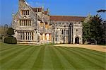 England,Dorset. Athelhampton House is one of the finest examples of 15th century domestic architecture in the country. Medieval in style predominantly and surrounded by walls,water features and secluded courts. Stock Photo - Premium Rights-Managed, Artist: AWL Images, Code: 862-03353624