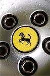 Ferrari logo on wheel of sportscar Stock Photo - Premium Rights-Managed, Artist: AWL Images, Code: 862-03353734