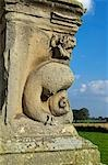 England,Shropshire. Decorative griffon on the ruins of Moreton Corbett Castle,a medieval castle and Tudor manor house of the Corbet family. Stock Photo - Premium Rights-Managed, Artist: AWL Images, Code: 862-03353782