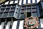 England,Shropshire,Bridgnorth. The timber framed Town Hall dominating the High Street this magnificent timber framed building was built in 1652 from a redundant tithe barn donated by a Lady Bertie from the town of Much Wenlock. Stock Photo - Premium Rights-Managed, Artist: AWL Images, Code: 862-03353818