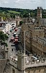 UK; England; Oxford. The High Street in Oxford with the Magdalen College in the background. Seen from the tower of St. Mary the Virgin. Stock Photo - Premium Rights-Managed, Artist: AWL Images, Code: 862-03353841