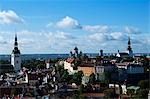 Panoramic City View of Lower Town and Toompea Hill,Located in the Unesco World Heritage Old Town with Toomkirk Russian Orthodox Cathedral and Niguliste Church (to the left) Stock Photo - Premium Rights-Managed, Artist: AWL Images, Code: 862-03353909