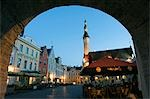 Looking through Arch out onto Town Hall Square (Raekoja Plats),Located in the Unesco World Heritage Old Town Stock Photo - Premium Rights-Managed, Artist: AWL Images, Code: 862-03353919