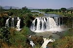 At 400m across and 45m deep,the Blue Nile Falls,known locally as Tis Abay or Smoking Nile,are at their most spectacular after the rainy season in October. Stock Photo - Premium Rights-Managed, Artist: AWL Images, Code: 862-03354005