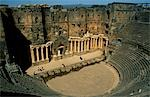 Originally built by the Romans,Bosra's 15,000 seat amphitheatre was gradually fortified from the 7th century on by successive Arab dynasties; it remains among the best preserved Roman theatres. Stock Photo - Premium Rights-Managed, Artist: AWL Images, Code: 862-03354768