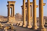 The spectacular ruined city of Palmyra,Syria. The city was at its height in the 3rd century AD but fell into decline when the Romans captured Queen Zenobia after she declared independence from Rome in 271. Stock Photo - Premium Rights-Managed, Artist: AWL Images, Code: 862-03354871