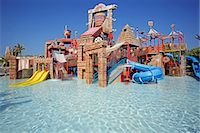 United Arab Emirates,Dubai,The Atlantis Palm Hotel. The 'Splashers Children Play Area' of Aquaventures Water Park. Stock Photo - Premium Rights-Managednull, Code: 862-03355359