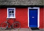 Askeaton, Co Limerick, Ireland, bicycle in front of a house Stock Photo - Premium Rights-Managed, Artist: IIC, Code: 832-03358568