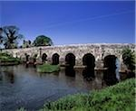 Bridge across a river, River Boyne, County Meath, Republic Of Ireland Stock Photo - Premium Rights-Managed, Artist: IIC, Code: 832-03358618