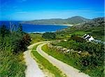 Dirt road passing through a landscape, Rosguill Peninsula, Tranarossan Bay, County Donegal, Republic Of Ireland Stock Photo - Premium Rights-Managed, Artist: IIC, Code: 832-03358675