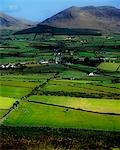 High angle view of buildings in a village, Mourne Mountains, County Down, Northern Ireland Stock Photo - Premium Rights-Managed, Artist: IIC, Code: 832-03358707