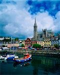 Cobh Cathedral & Harbour, Co Cork, Ireland Stock Photo - Premium Rights-Managed, Artist: IIC, Code: 832-03358993