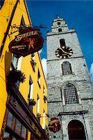 saloon - Shandon, Cork City, County Cork, Ireland; St. Anne's Church clock tower Stock Photo - Premium Rights-Managednull, Code: 832-03359126