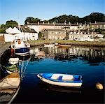 Strangford, County Down, Ireland; Boats in village harbour Stock Photo - Premium Rights-Managed, Artist: IIC, Code: 832-03359165