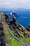 Stone stairway, Skellig Michael, Skellig Islands, County Kerry, Ireland Stock Photo - Premium Rights-Managed, Artist: IIC, Code: 832-03359180