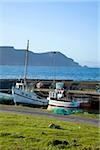 Purteen Harbour, Achill Island, Co Mayo, Ireland; Fishing boats Stock Photo - Premium Rights-Managed, Artist: IIC, Code: 832-03359291