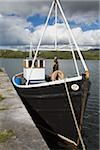 Fishing boat at pier, Letterfrack, County Galway, Ireland Stock Photo - Premium Rights-Managed, Artist: IIC, Code: 832-03359340